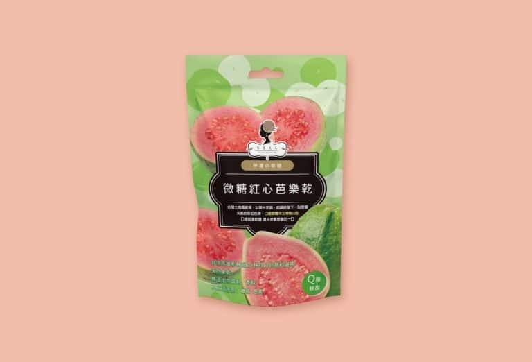 紅心芭樂乾 密封袋設計 果乾包裝設計 果乾袋設計 包裝設計推薦 高雄包裝設計 台中包裝設計