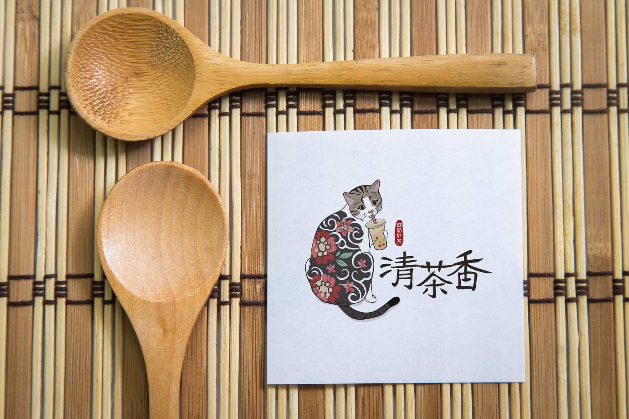 清茶香茶飲 LOGO設計 形象設計 品牌設計 商標設計