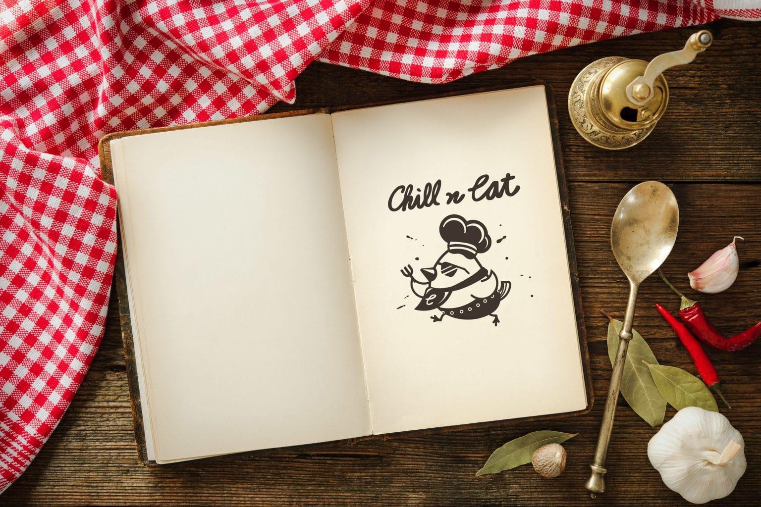 CHILL N EAT鹽水雞 LOGO設計 形象設計 品牌設計 商標設計