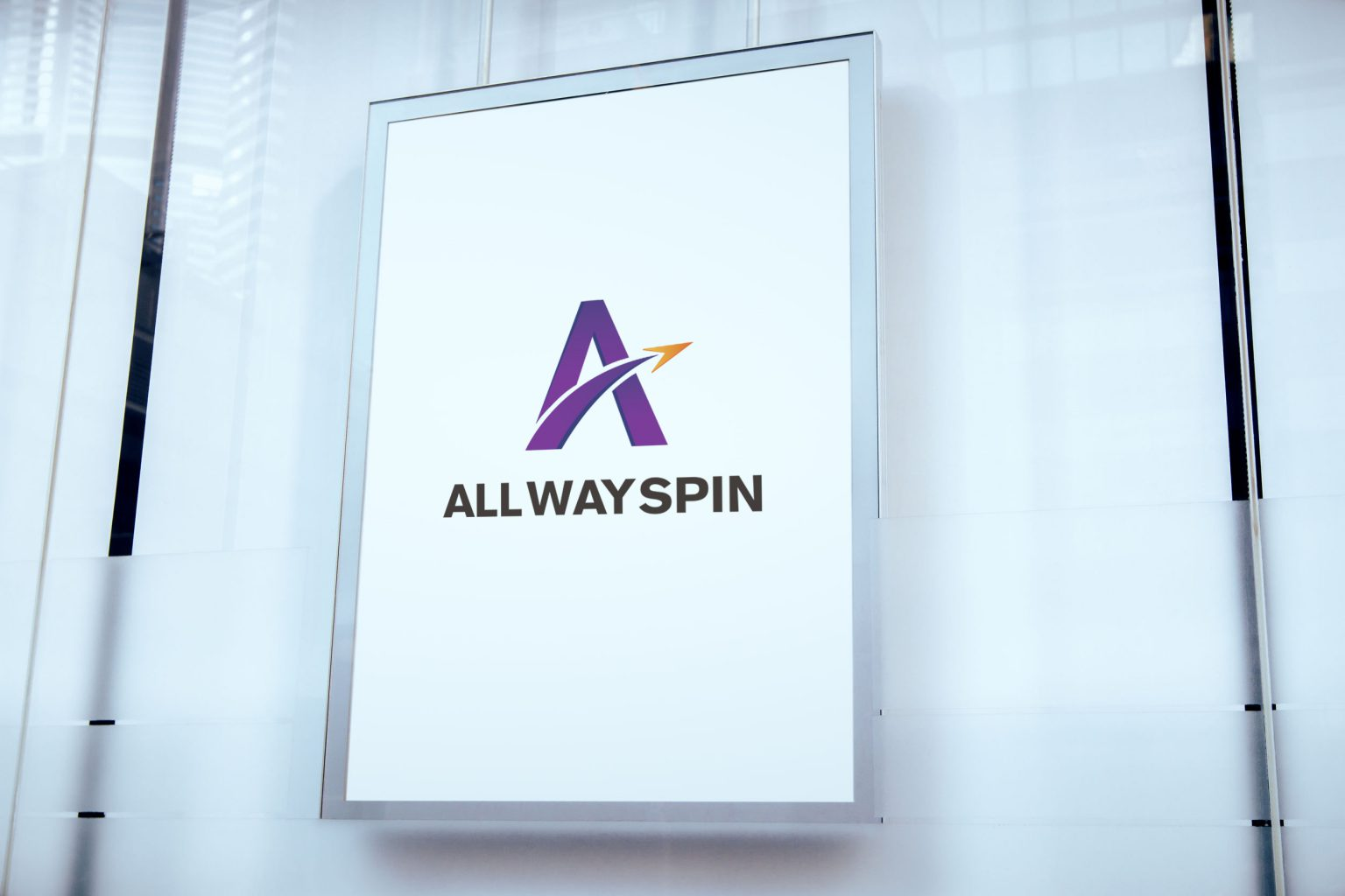 All Way Spin LOGO設計 品牌設計 商標設計 形象設計