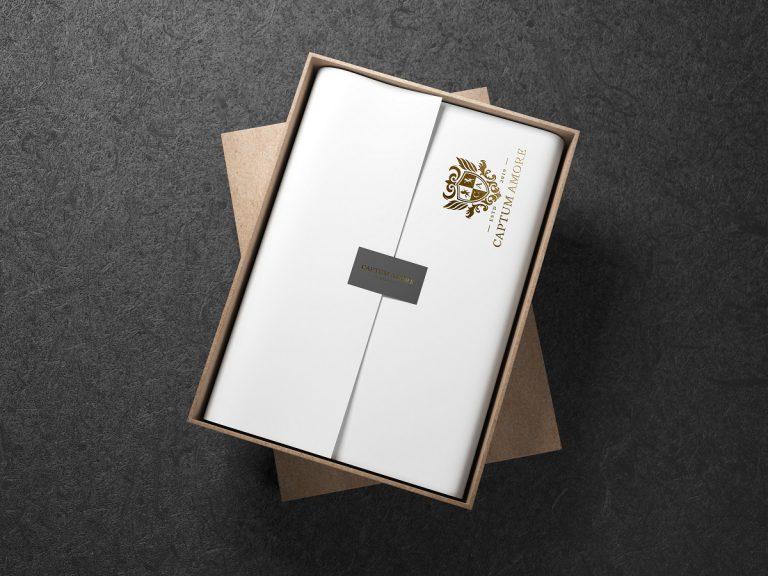 CAPTUM AMORE-logo包裝燙金模擬