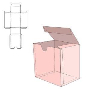 紙盒包裝設計示意圖
