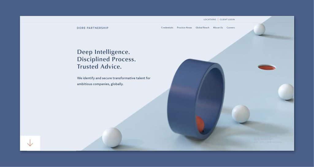 強調視覺動線的設計,將動態美感佈滿整體網頁。