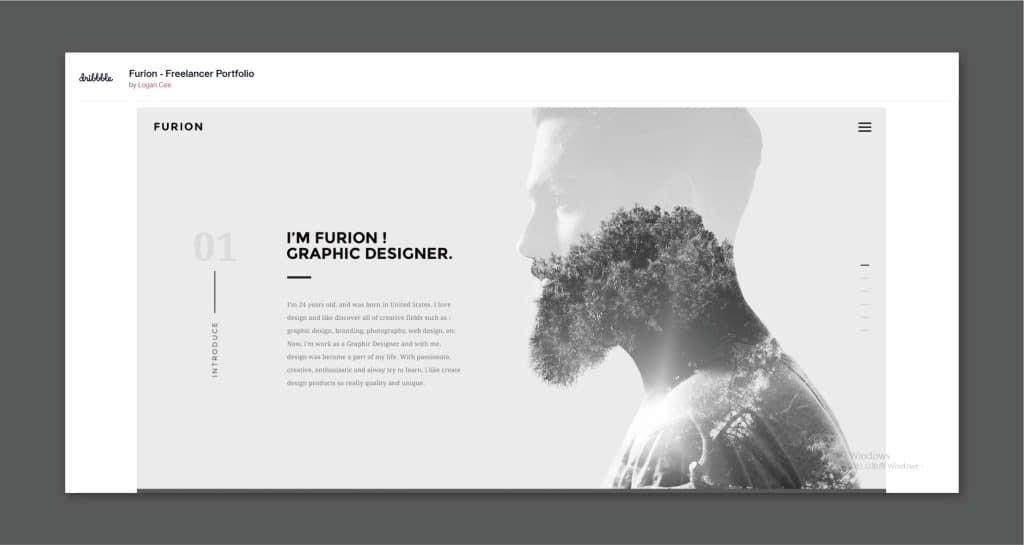 多重曝光的網頁設計,除了引人眼球,更隱含雋永的深意。