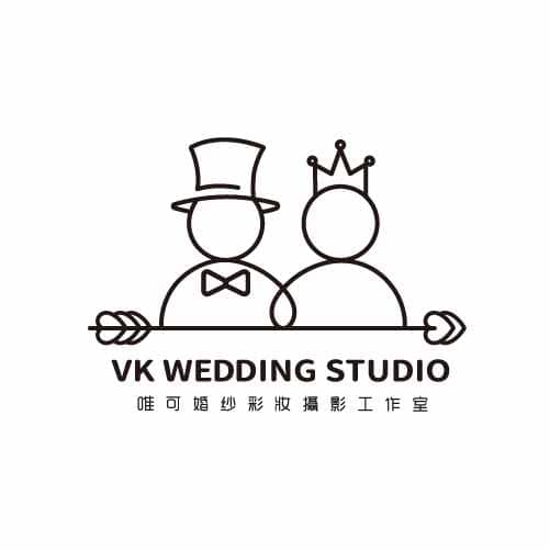 VK唯可婚紗彩妝攝影工作室 Logo 設計 形象設計 品牌設計 高雄商標設計 標誌設計
