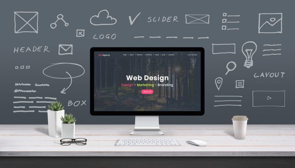 多頁式網站上可能會有的元素。