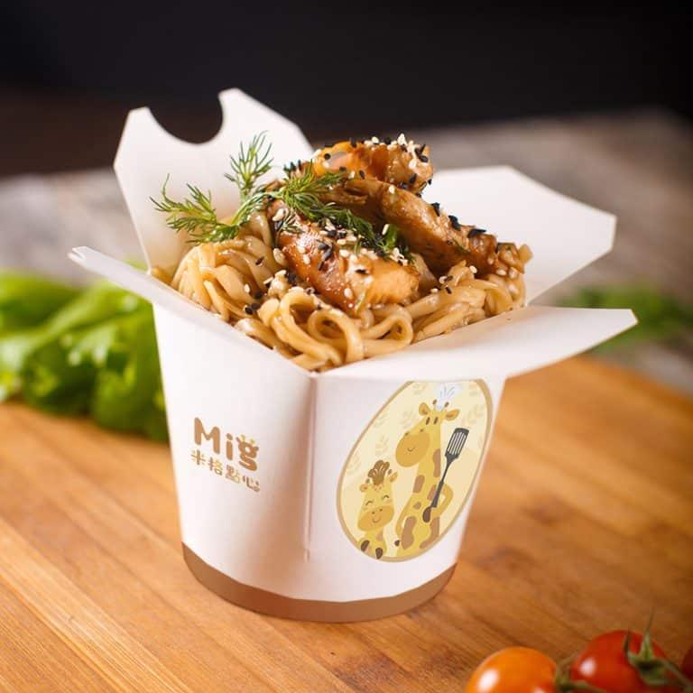 米格點心-麵盒模擬圖 LOGO設計 形象設計 品牌設計 商標設計