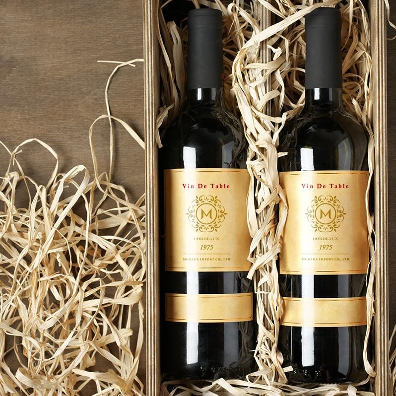 莫藍達貿易有限公司-酒瓶模擬圖 LOGO設計 形象設計 商標設計 品牌設計 龐果設計