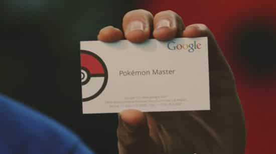 google與堡可夢聯名名片