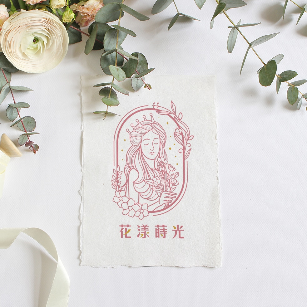 花漾蒔光 LOGO設計 形象設計 品牌設計 商標設計