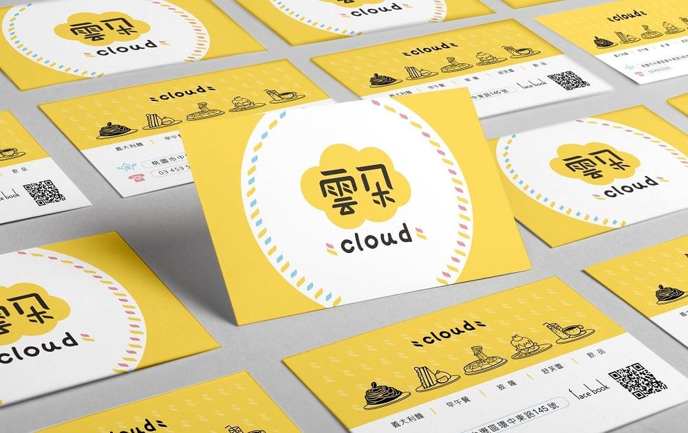 雲朵義大利麵商標設計