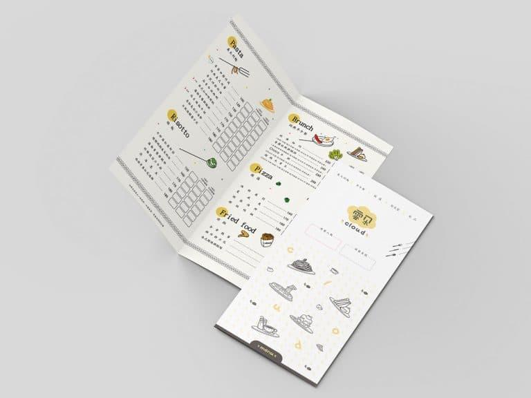 雲朵義大利麵商標型錄設計