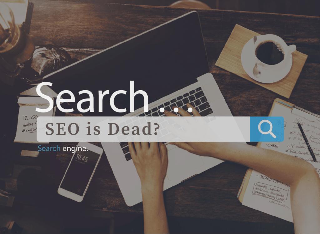 搜尋框上有 SEO is Dead?的字眼