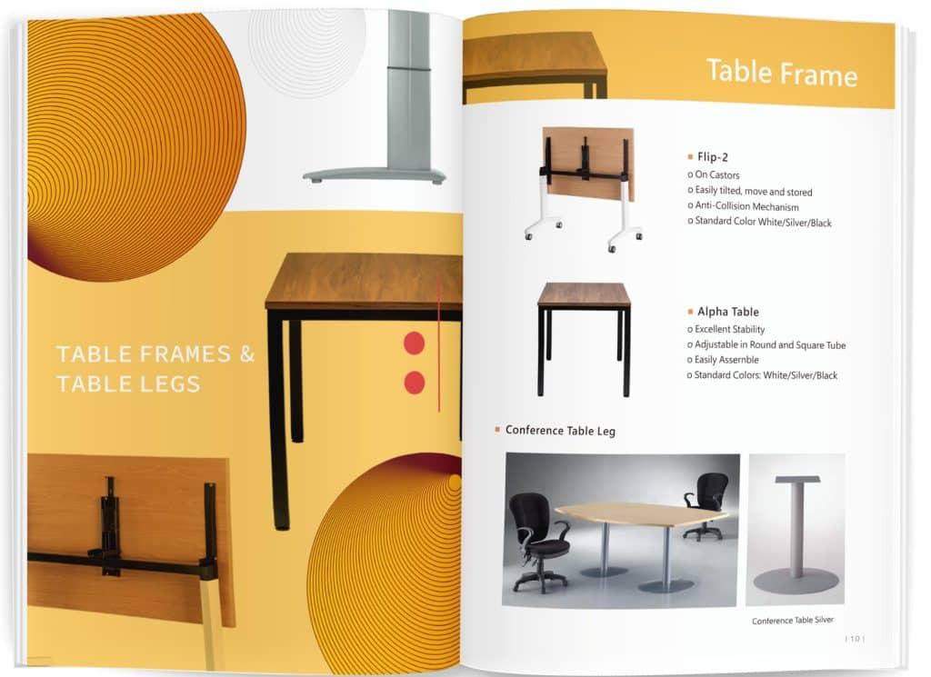 桌椅產品型錄設計