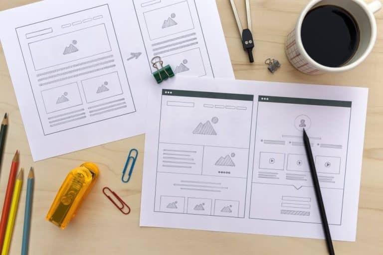 網站規劃迷思:如何規劃你的電子商務網站?鉛筆草繪基本網站架構圖。