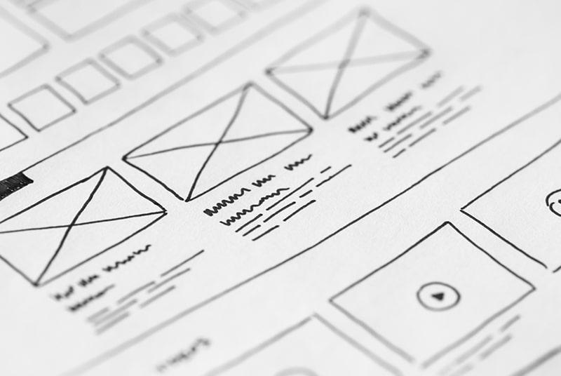 網站架構的手繪線框圖,只要能清楚表達意思,手繪也很好。