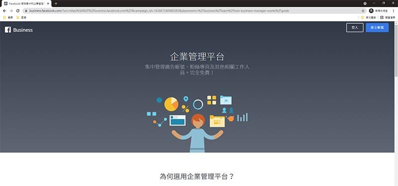 多元社群媒體-Facebook企業管理平台。