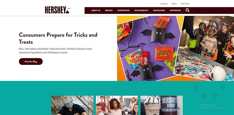 Hershey巧克力官網的故事行銷